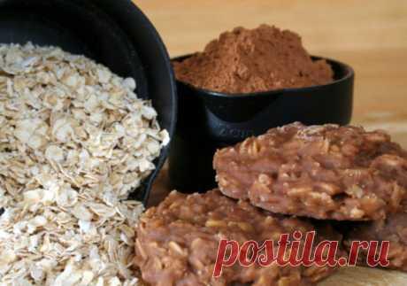 Классическое шоколадно-овсяное печенье без выпечки. Вкусно и быстро