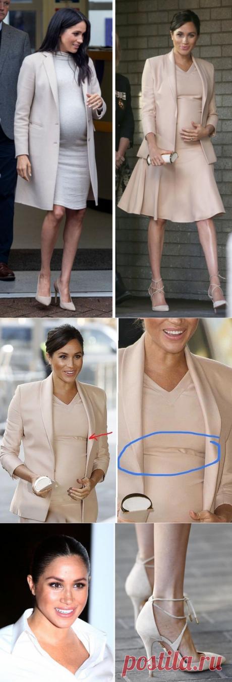 У Меган Маркл накладной живот или 6 доказательств с фото того, что герцогиня не беременна - krauzer.ru