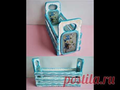 TUTORIAL, COS din carton - TUTORIAL, cardboard BASKET