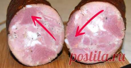 Узнай, как отличить качественную колбасу от химической.