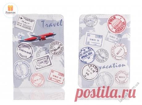 Travel - Кожаная обложка на паспорт путешественника  → Купить за 199 грн. → Цена, Отзывы