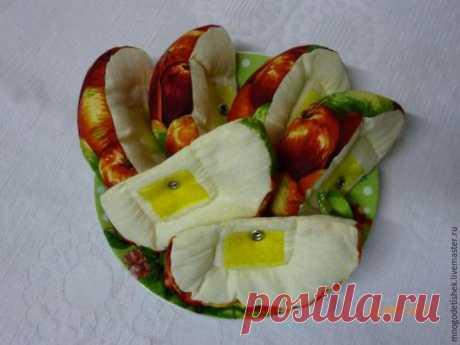 Создаем текстильное развивающее яблочко