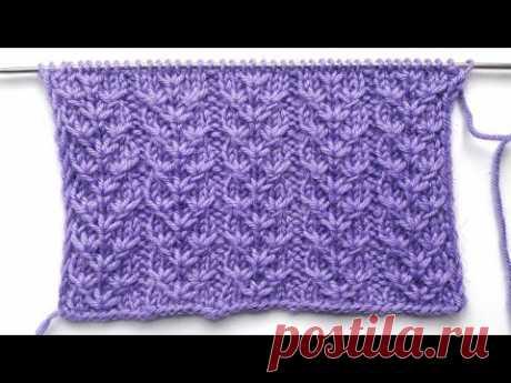 Шикарный узор спицами Звездные дорожки / Для вязания шапки, свитера, пледа
