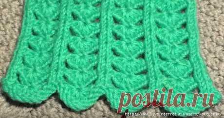"Knitting by spokes - Patterns spokes - the Pattern \""Hearts\"". Video MK."