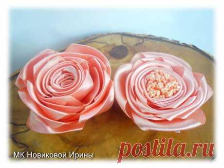 Мастер-класс смотреть онлайн: Делаем простые розы из атласной ленты | Журнал Ярмарки Мастеров