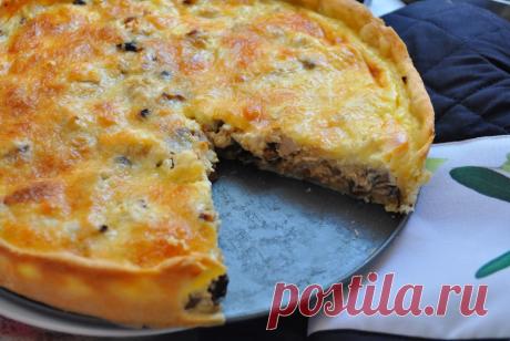 Потрясающий лоранский пирог с курицей и грибами   Самые вкусные кулинарные рецепты