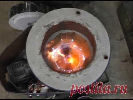 4. Печь для плавки алюминия. Переходим на газ.