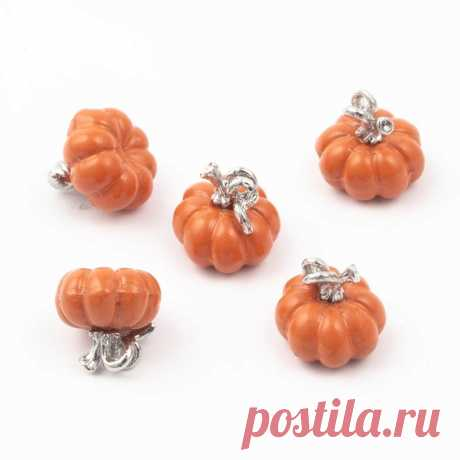 Halloween alloy pumpkin beads spray paint for jewelry accessories fit bracelet pendant earring charm fashion beads Sale - Banggood.com