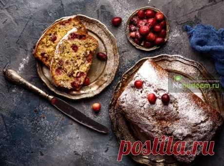 Апельсиновый кекс с клюквой и орехами | Пошаговые рецепты с фото
