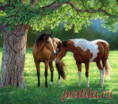 О лошадях... Художница Персис Клейтон Вейерс (Persis Clayton Weirs)