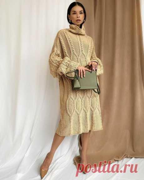 Вязанное платье - оригинальная модель, которая никого не оставит равнодушным | ladyline.me | Яндекс Дзен