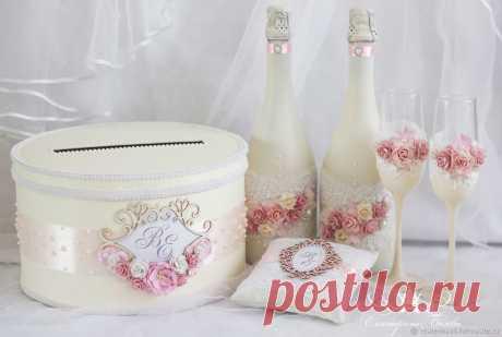 Декор свадебных бутылок – заказать на Ярмарке Мастеров – GLB6ZRU | Бутылки свадебные, Уфа
