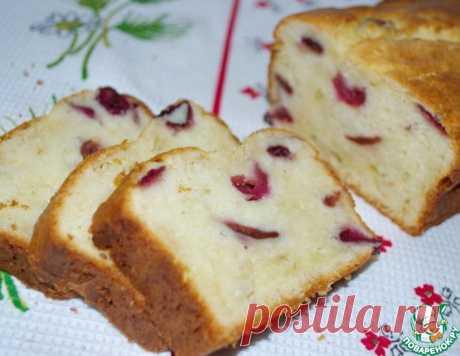 Творожный кекс с вишней или черешней – кулинарный рецепт