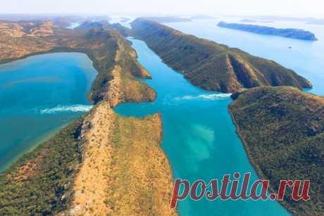 Уникальные Горизонтальные водопады, Австралия