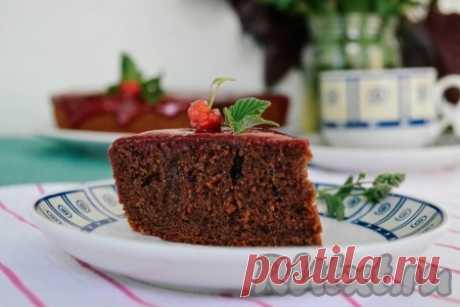 Шоколадный кекс на кефире в мультиварке - 13 пошаговых фото в рецепте