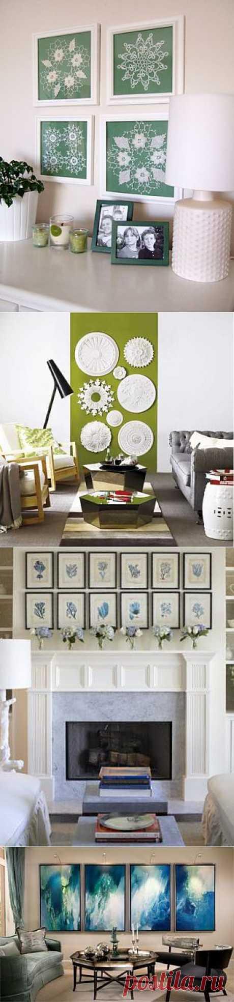 Идеи для украшения стен: множество похожих предметов | Дизайн-Ремонт.инфо. Фото интерьеров. Идеи для дома.