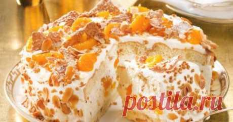 Торт с мандаринами - отличный способ порадовать семью вкуснятинкой.