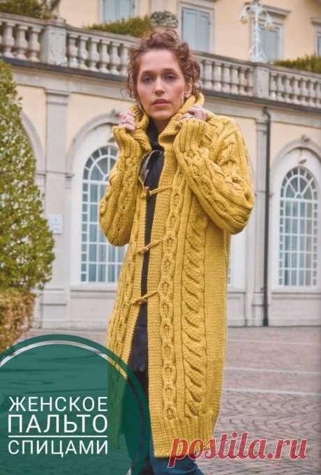 Пальто спицами для женщин. Топ - 19 моделей