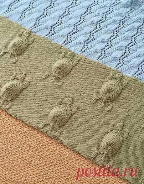 Вязаное полотно с черепашками diy Модная одежда и дизайн интерьера своими руками