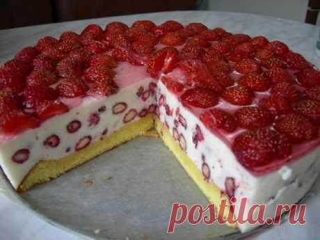 Торт «Земляничная льдинка». Его вкус ты не забудешь никогда!