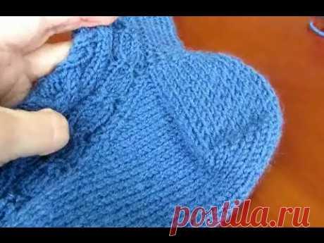 Как вязать пятку носка  Вариант 3 «Французская пятка»