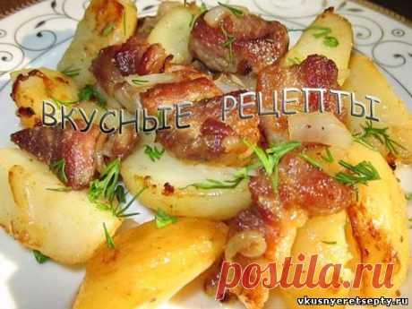 Простой и быстрый рецепт приготовления вкусной жареной картошки с мясом. Это блюдо понравится всем и прекрасно подойдет для обеда или ужина