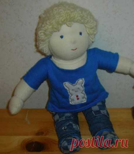 Как сшить вальдорфскую куклу. Волосы (часть 2) / Это интересно / Все о куклах и игрушках / Oytoy