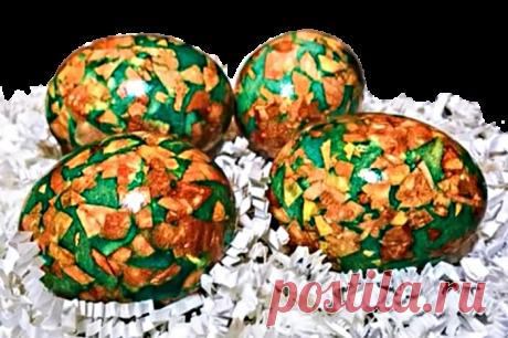 Мраморные яйца на пасху. Как красить