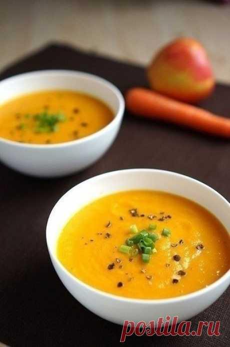 La sopa morkovno-de manzana.