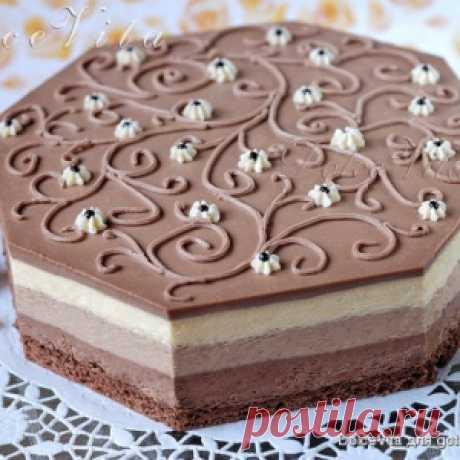 """Торт-мусс """"Три шоколада"""" от Луки Монтерсино - МирТесен"""