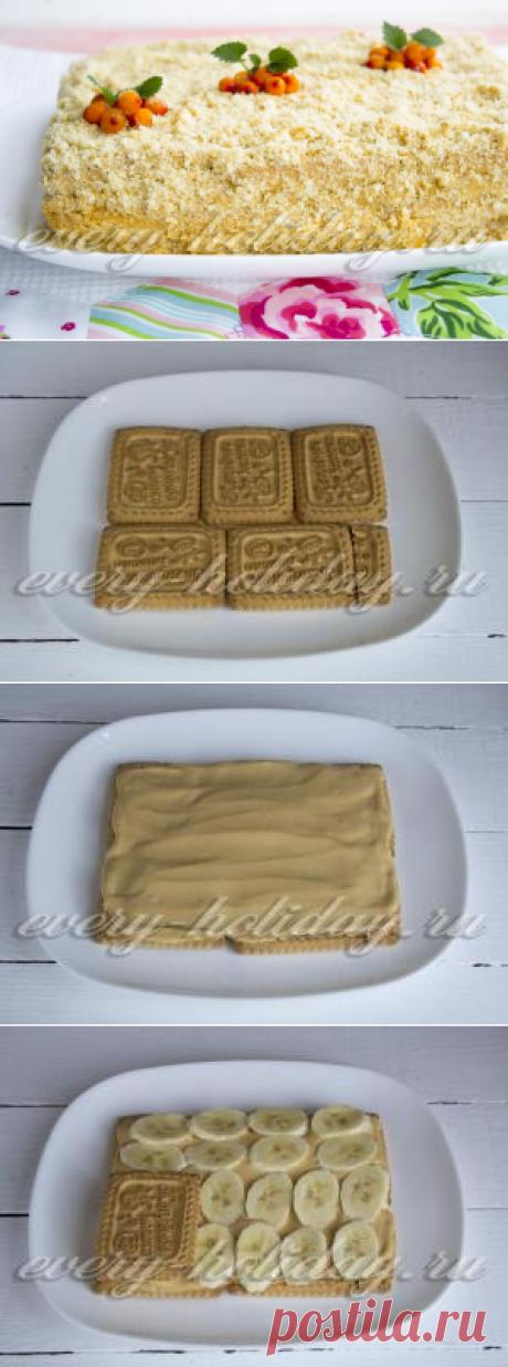 La torta de las galletas sin cocción con la leche condensada y el aceite