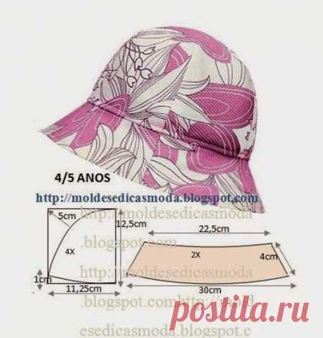 Летние шляпы и панамы из ткани (+выкройки и видео-урок)   Рукоделие