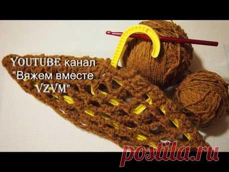 ▶Что связать из остатков пряжи Чехол для вешалки Урок 78 from the remnants of yarn
