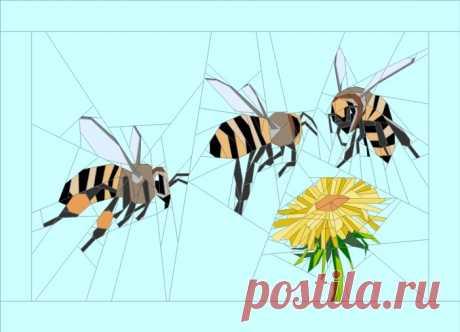 Bees Art Quilt – Quilt Art Design