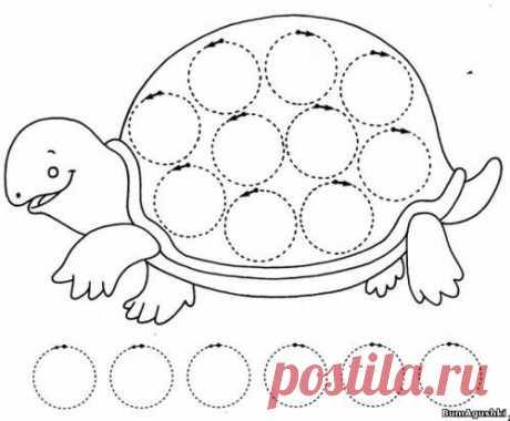 Po tochkam - Соединяем по точкам - Дошкольное развитие ребенка - БумАгушки - детские раскраски и многое другое