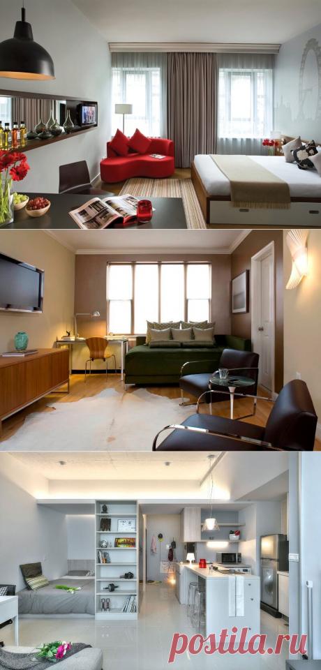 Дизайн маленькой квартиры студии - фото, идеи, примеры