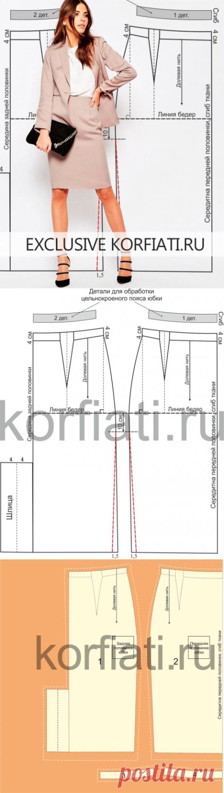El patrón de la falda con tselnokroenym por el cinturón de A.Korfiati