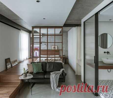 Китайская квартира площадью в 43 кв.м, интерьер в азиатском стиле