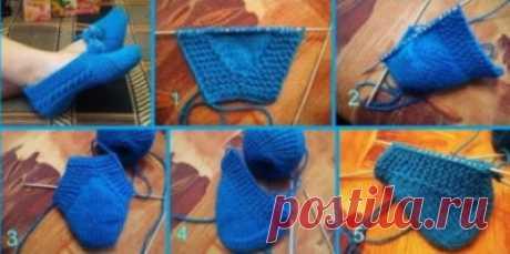 Вязание спицами: тапочки на двух спицах схемы. Простой способ для начинающих, без шва, с ракушкой, фото, видео уроки