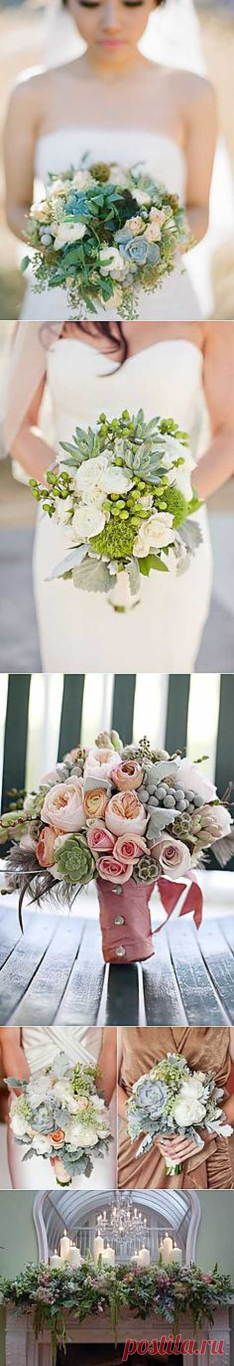 Gorgeous Rustic Winter Wedding Bouquet filled with ... | Karis wedding