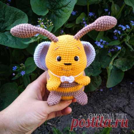 Пчелёнок Луи амигуруми. Схемы и описания для вязания игрушек крючком! Бесплатный мастер-класс от Жанны Мониной