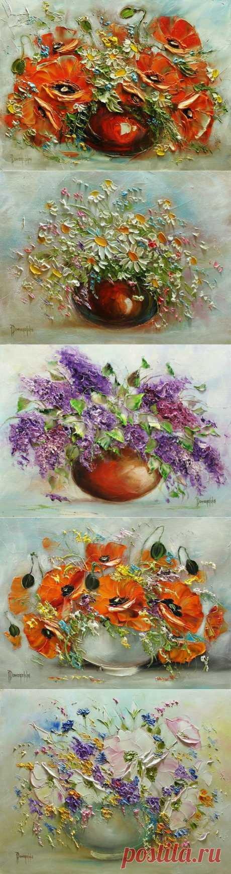 Joanna Domagalska \ Роскошь цветочного букета.
