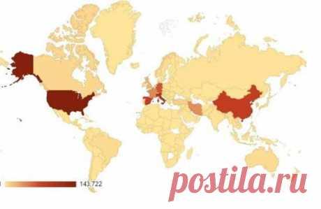 Карта распространения коронавируса  COVID-19 2 апреля 2020 в режиме реального времени - Смотрите на Новости UA