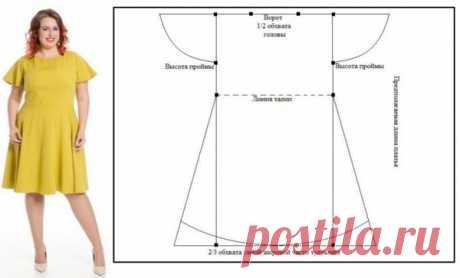 Летние платья, которые можно сшить за 2 часа. Простые выкройки для девушек приятной полноты – В Курсе Жизни