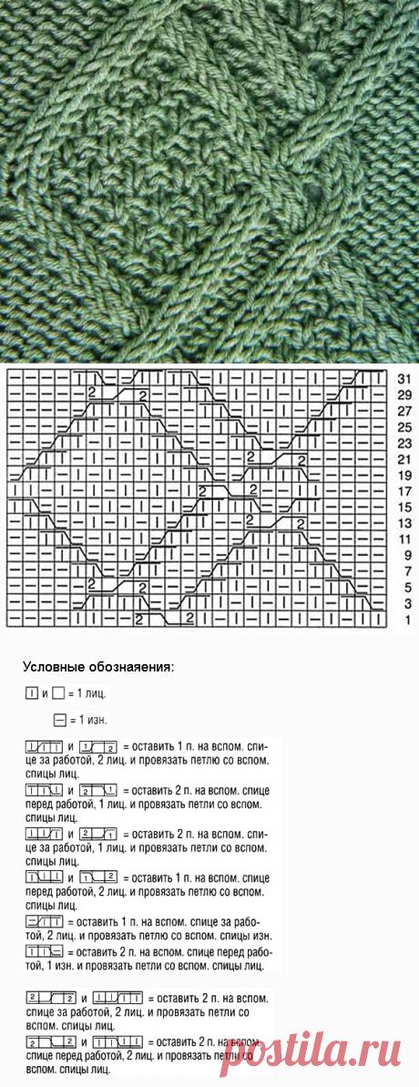 www.SHPULYA.com - Рельефный узор спицами 2