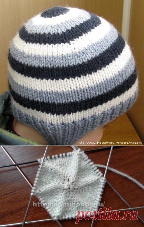 Новый простой способ вязания шапочки-ВКРУГОВУЮ С МАКУШКИ