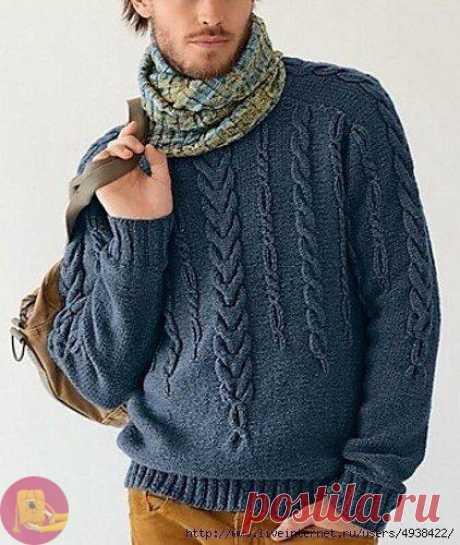 Превосходный уютный свитер для любимого мужчины — Сделай сам, идеи для творчества - DIY Ideas