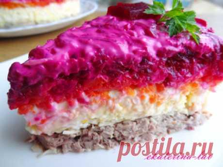Праздничный салат Мой генерал рецепт с фото