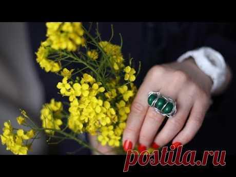Как сделать кольцо своими руками. Мк кольцо из проволоки и камней