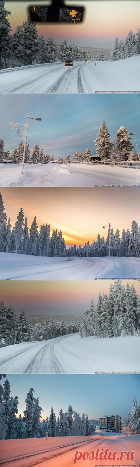 Финские дороги зимой | 2016